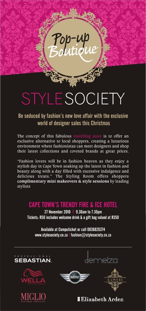 StyleSociety Pop up Boutique 2010