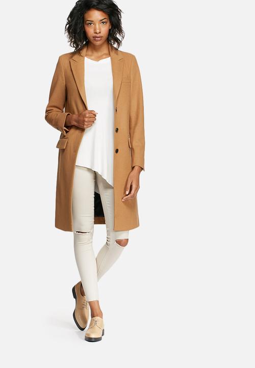 Constract wool coat