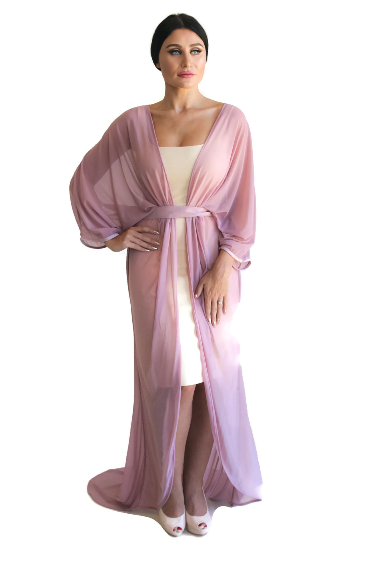 Kirti Goddess Robe Rose Blush 1