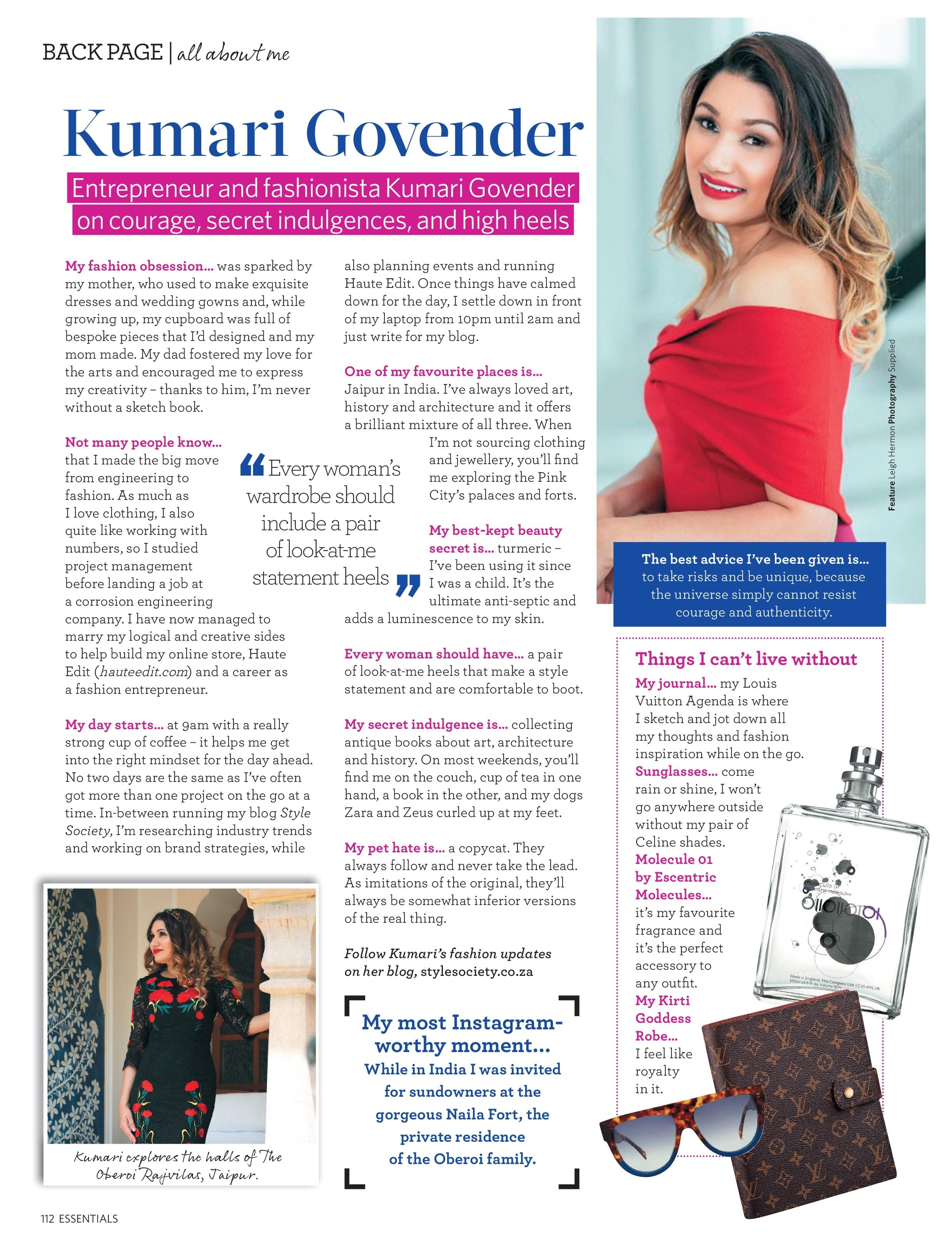 Essentials Magazine Kumari Govender