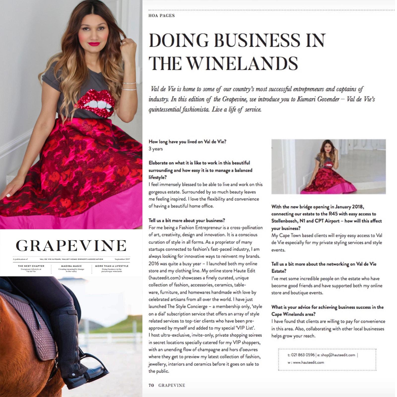 Kumari Govender Grapevine Magazine 2017