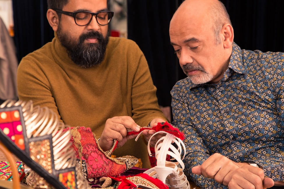 Christian Louboutin and Sabyasachi