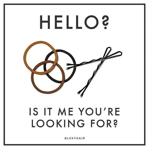 Hair Quote Bobby Pins Hello Is it me you're looking for