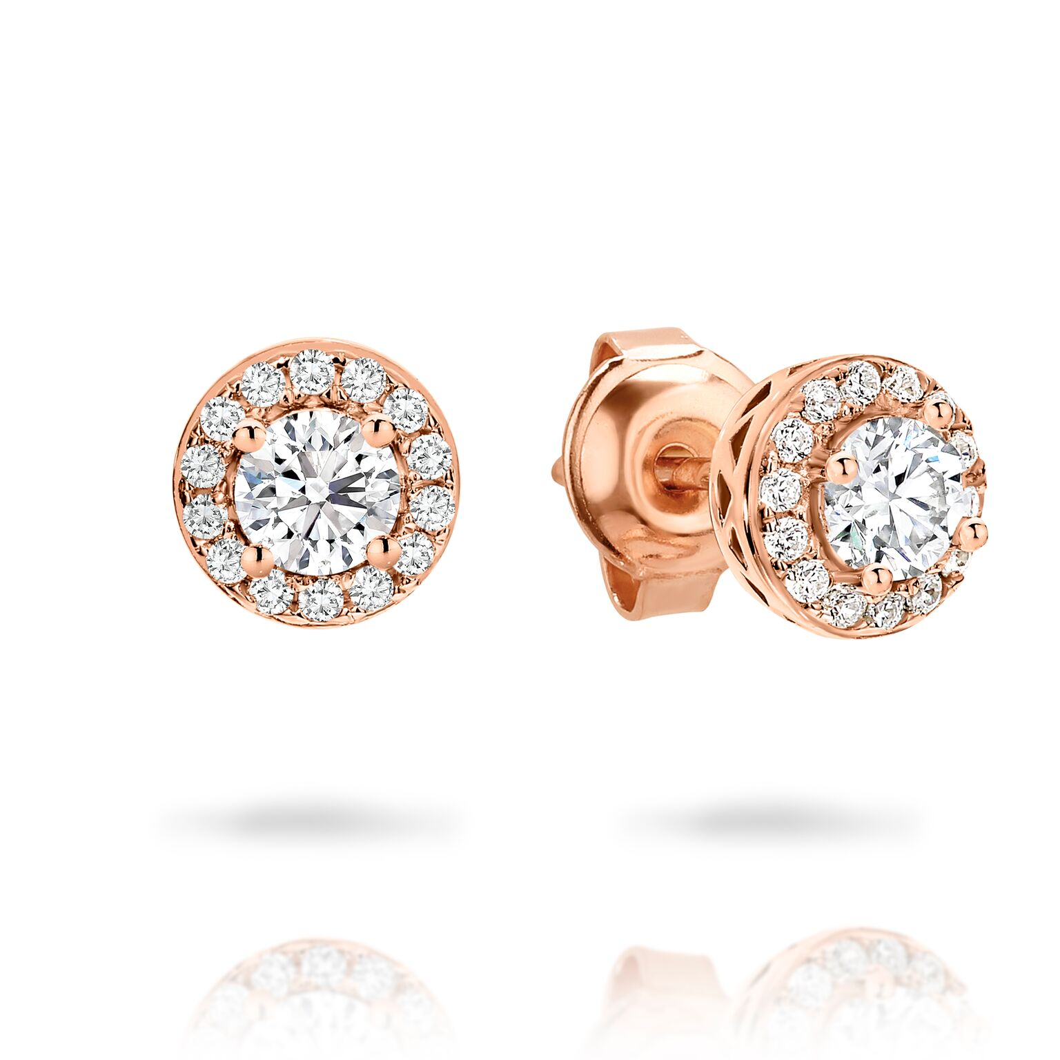 Georgini RG Petite Halo Stud Earrings