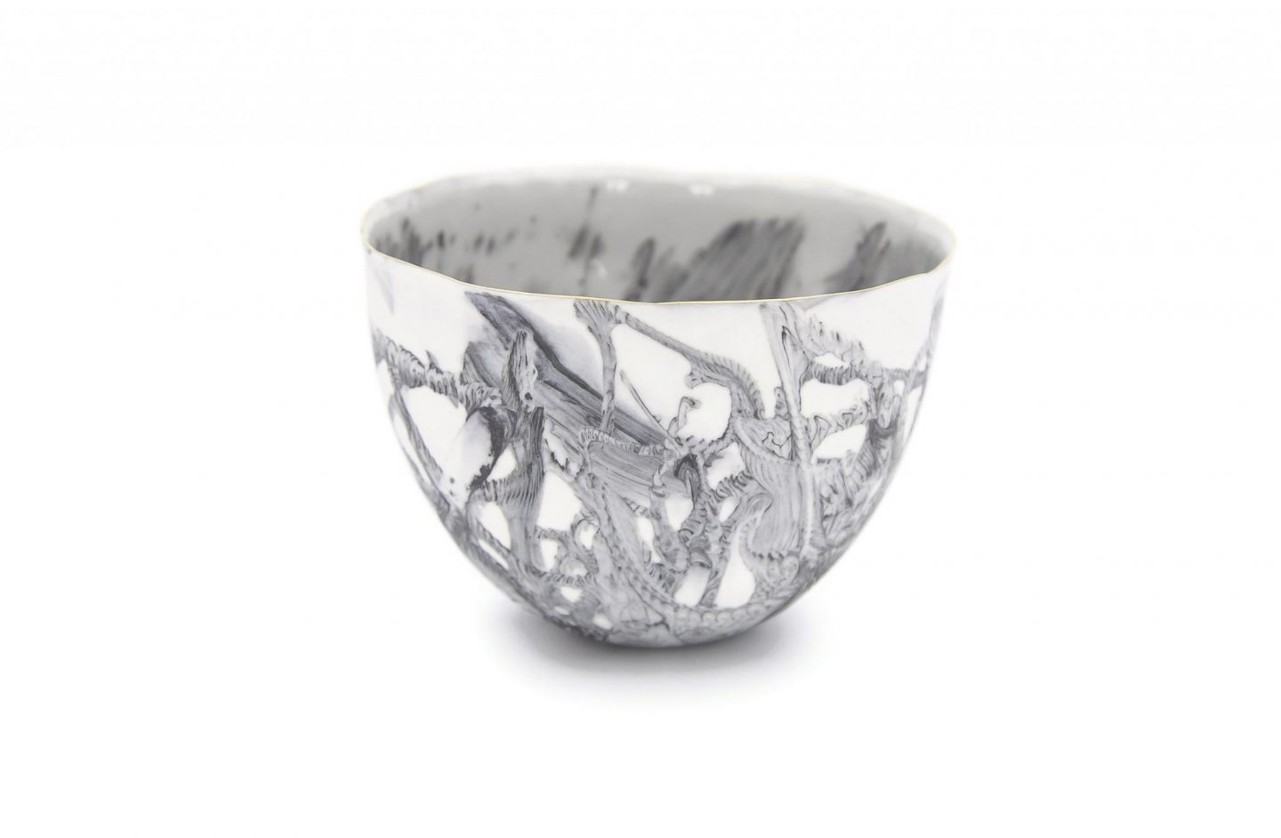Collectible Porcelain Marble Bowl