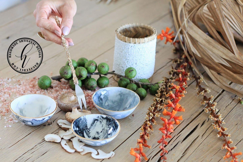 Collectible Porcelain Condiment Marble Bowl